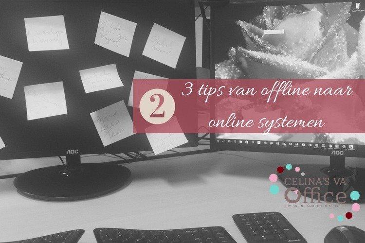 2 de tip van offline naar online systemen