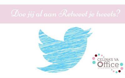 Doe jij al aan Retweet je tweets?