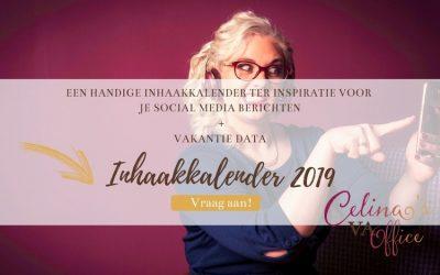 Gratis inhaakkalender 2019