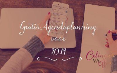 Het is al maart! Wat een goed moment om je agenda planning voor 2019 te maken :-)