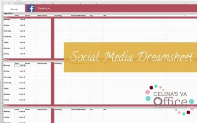 Hoe ik chaos in overzicht veranderde en wat leidde tot de 'Social Media Dreamsheet'!