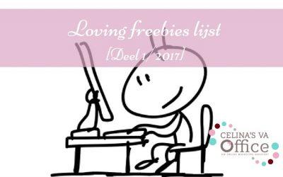 Loving freebies lijst [Deel 1/2017]