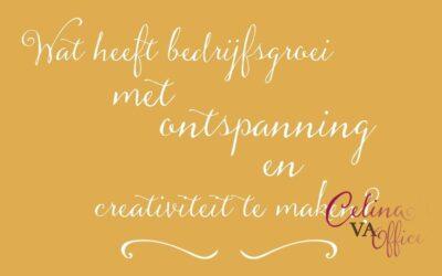 Wat heeft bedrijfsgroei met ontspanning en creativiteit te maken?